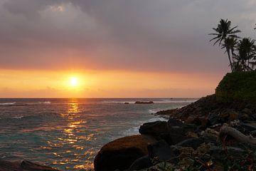 Zonsondergang Sri Lanka van Andrew Chang