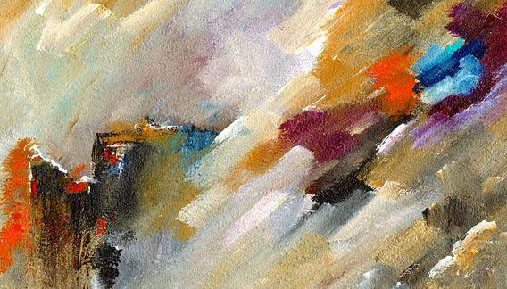 Abstrakte Landschaft van Katarina Niksic