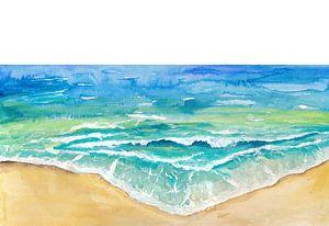 Tropische Meereswellen und Sandstrand von Markus Bleichner