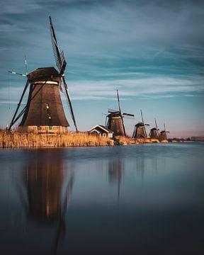 Die Windmühlen von Kinderdijk von Sander van Driel