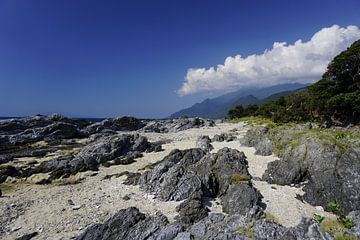 Strand op Yakushima eiland, Japan van Annemarie Arensen
