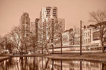 Rotterdam Westersingel - einfarbig von Frans Blok