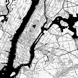 Kaart van New York in stripboekstijl