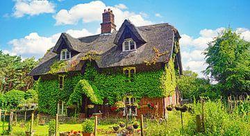 Efeubewachsenes Haus auf dem Weg in Suffolk von Babetts Bildergalerie