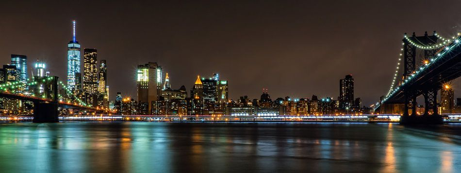 New York City Skyline van Jasper den Boer