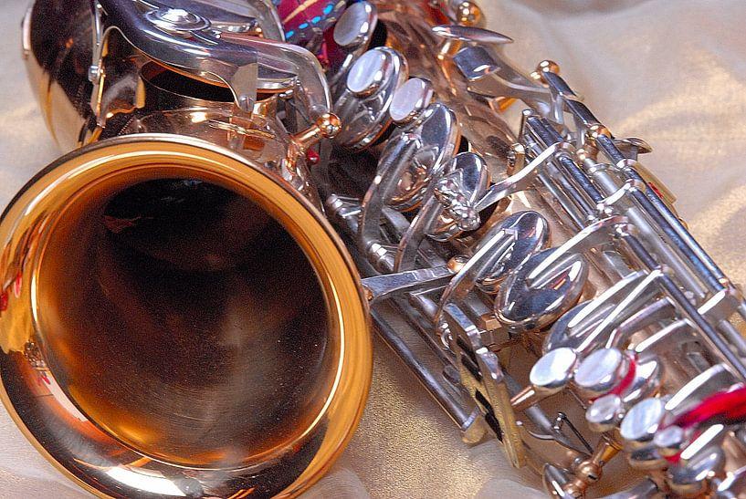 Saxophone Closeup van Brian Morgan