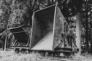 Oude veen transportwagen van