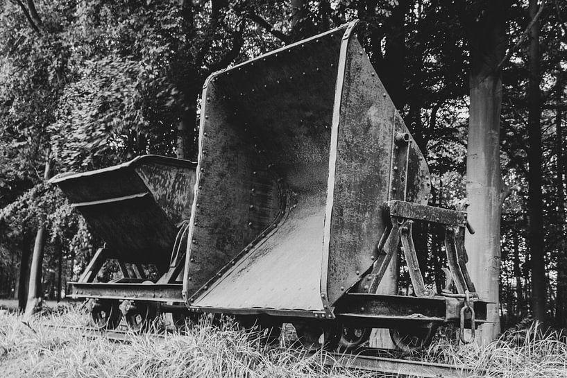 Oude veen transportwagen van Anjo ten Kate