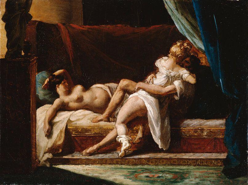 Three Lovers, Théodore Géricault von Meesterlijcke Meesters