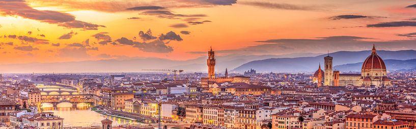 Skyline Florence la nuit I sur Teun Ruijters
