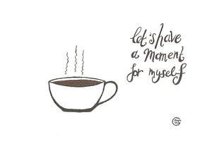 Kunst & Zitat, Kaffee Trinken