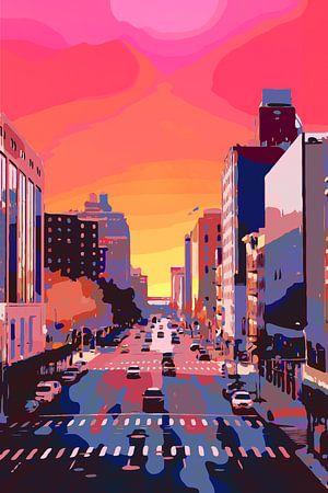 Straat van New York City -  POP ART STYLE - straatfotografie van The Art Kroep