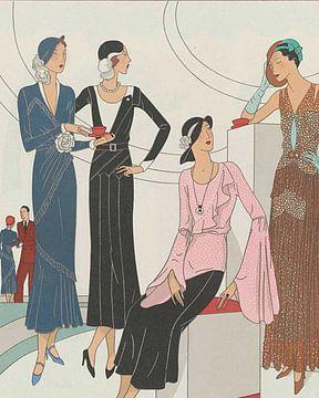 Koffietijd | Art Deco vintage koffie prent | Historische advertentie | 1920s en minimalistisch van NOONY