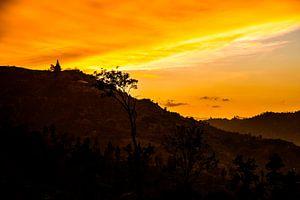 Pagoda sunset van René Meester
