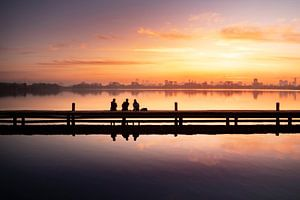 Rotterdamse Skyline zonsondergang van Claire Droppert