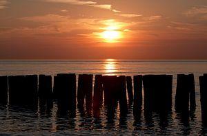 Sonnenuntergangs strand Zoutelande