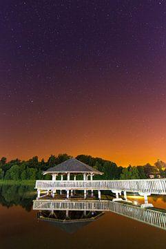 Prieel nacht reflectie sur Dennis van de Water