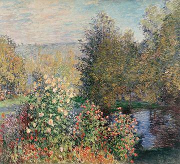 Hoek van de tuin bij Montgeron, Claude Monet