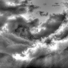 Matterhorn, Schwarzweiss, Wolken, Zermatt, Schweiz von Torsten Krüger