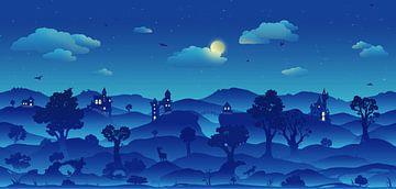 Märchenland in der Nacht von Petra van Berkum