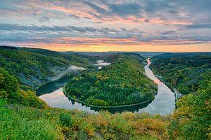 Herbst bei der Saarschleife im Saarland von Michael Valjak