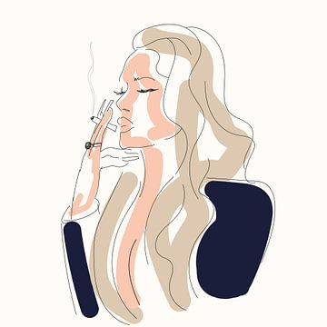 Rauchende Frau von Nine Revius