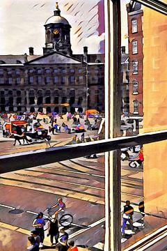 Venster op de Dam, Amsterdam van
