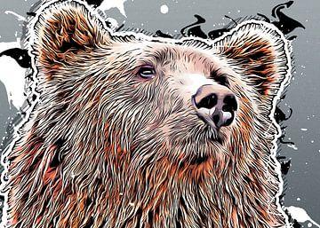 Bär Tier Kunst #Bär von JBJart Justyna Jaszke