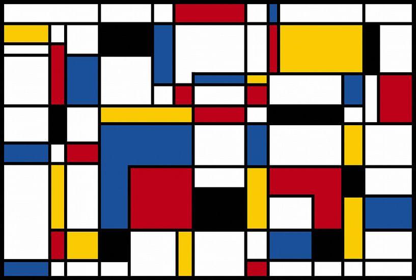 Samenstelling II Piet Mondriaan van Marion Tenbergen