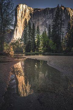 El Capitan weerspiegeling van