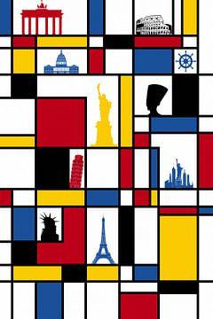 Piet Mondrian landmark sur Marion Tenbergen