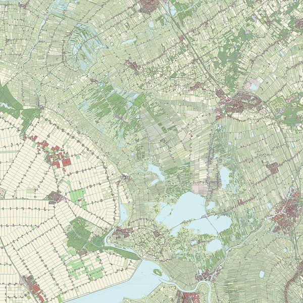 Kaart vanSteenwijkerland van Rebel Ontwerp