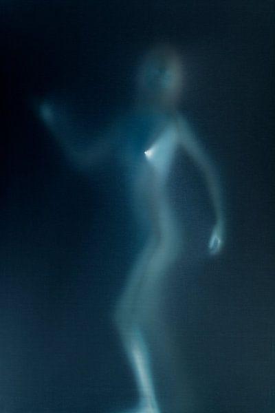 Female figure in blue van Patrick LR Verbeeck