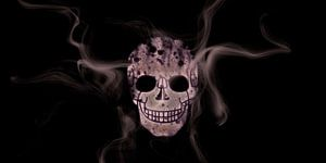 Digital-Art Smoke & Skull Panoramic