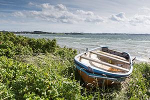Boot in den Dünen auf Aerö