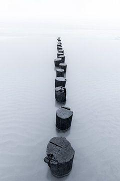 Zeeländische Kamine in Schwarz-Weiß von Sander Grefte