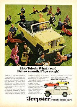 Jeep Jeepster Convertible Werbung 1967 von Atelier Liesjes