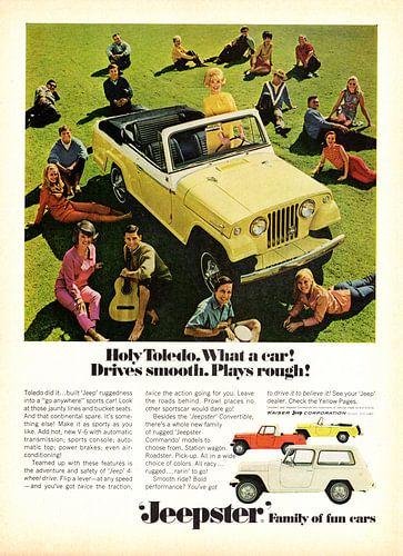 Jeep Jeepster Convertible Werbung 1967 von Natasja Tollenaar