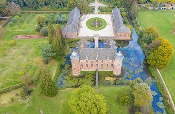 Arialfoto von Schloss Slangenburg bei Doetinchem von Jeroen Kleiberg