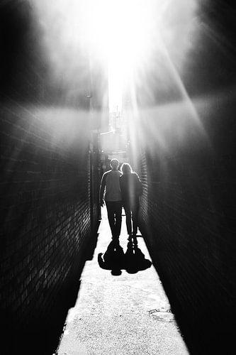 Wandeling naar het licht van
