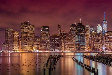 NEW YORK CITY Indruk nacht van Melanie Viola