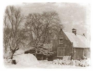 Oud huisje in de sneeuw von Corinne Welp