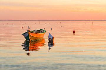 Barque au coucher du soleil van