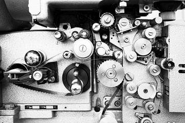 Vintage Filmprojektor in Großaufnahme von Arie Storm