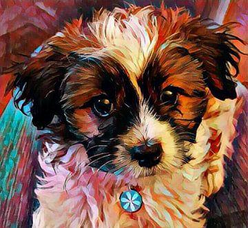 Serie; kleine pup Saartje van Saartjes Wereld