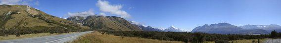 The road to mount Cook - Nieuw Zeeland