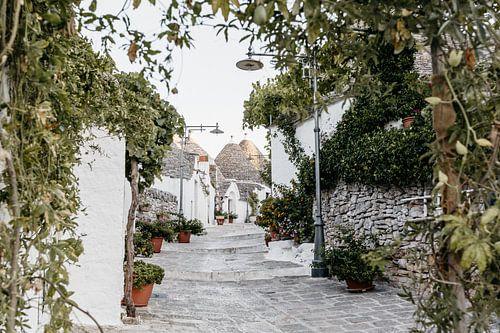 Malerische Trulli-Häuschen in Alberobello, Italien