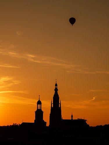 Breda - Sunset Grote Kerk