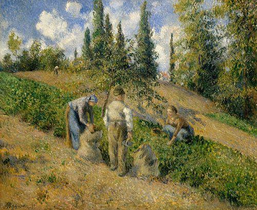 De oogst, Pontoise (La Récolte, Pontoise), Camille Pissarro van Meesterlijcke Meesters
