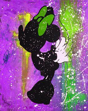 """Minnie Maus """"Kuss"""" von Kathleen Artist Fine Art"""